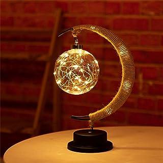 The Enchanted maanlamp, hangende led-maanlamp, nachtlampje met standaard, maanlamp, halve maan, bol, tafellamp voor thuis,...