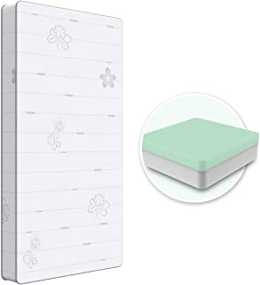 Dourxi Crib Mattress, 2-Stage Dual Sided Toddler Mattress, Premium Breathable Memory Foam Mattress, Dual Comfort Sleep System for Newborn Infant and Toddler, W/Skin-Friendly Removable Outer Cover