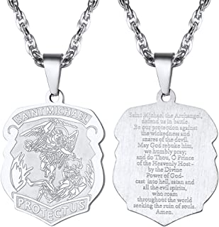 Saint Michael The Archangel Necklace Pendant & Chain Catholic Religious Jewelry