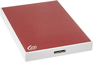 Seagate Backup Plus Slim 2TB External Hard Drive Portable HDD – Red USB 3.0 for PC..
