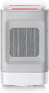 ELEXERT Calefactor de Aire,Calefactor Bajo Consumo,Mini Portatil Silence 3 Funciones Ajustables PTC Elemento de Cerámica Protección Sobrecalentamiento y Antivuelco para Dormitorio Oficina Hogar,White