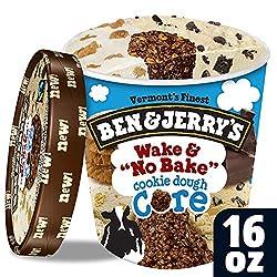 Ben & Jerry's Ice Cream Wake & No Bake Cookie Dough Core, 16 oz (frozen)