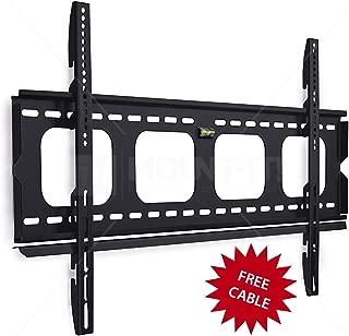 Mount-It! MI-305L Premium Low-Profile Fixed TV Wall Mount Bracket for 42-70 inch LCD, LED, 4K Flat Screen TVs Capacity 220 lbs, Max VESA 850x450