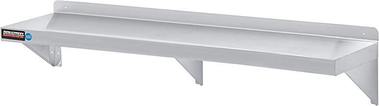 """DuraSteel Stainless Steel Wall Mount Shelf 72"""" Wide x 14"""" Deep Commercial Grade - NSF Approved - Good for Restaurant, Bar, Home, Kitchen, Laundry, Garage and Utility Room"""
