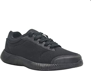 KazarMax Men's Faux Leather with Mesh Black Office/Running Shoes (Made in India)