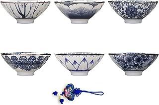 ZHAMS Kungfu Teacup,Chinese Long-Quan Celadon Teacup,Set of 6