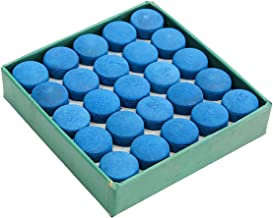 Vidillo 50 Pieces Cue Tips,Snooker Cue Tips Billiard Pool Stick Replacement Tips with Storage Box,Blue Pool Cues Accessories Cue Tips Supplies
