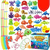 GoodyKing Magnetic Fishing Game Pool Toys for Kids - Magnetic Fishing Toy for Toddlers Bath-tub Outdoor Indoor...