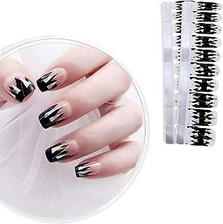 IBAOTTY 20pcs Nail Art Wraps Sticker Simple Nail Polish For Women Sticker Strips DIY Fullnail Polish patch Strips for Halloween,Wedding, Party, Shopping, Travelling