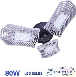 80W LED Garage Light, E26 Garage Lighting 8000 Lumens, led Garage Ceiling Lights, Garage Light Bulbs,Work Lights for Garage, Workshop, LED High Bay Lights(80w