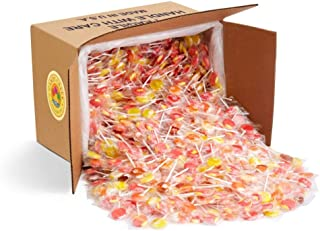 Soda Shop Lollipops by Candy Creek, Bulk 18 Pound Carton, Rootbeer Float, Cherry Vanilla, Strawberry Banana, Orange Creamsicle, and Pineapple Coconut