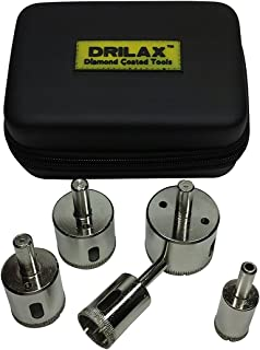 DRILAX 5 Pcs Diamond Drill Bit Set 3/4