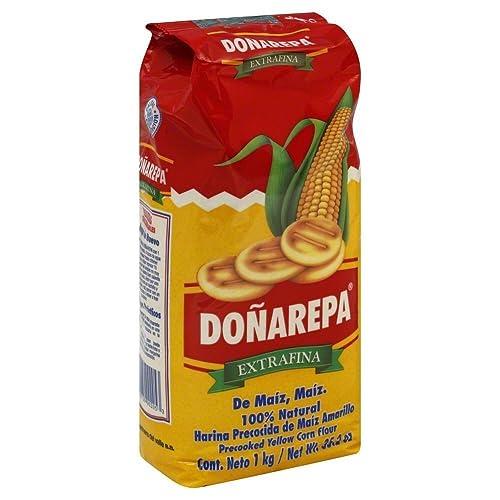 Doña Arepa Extrafina Yellow Corn Flour 35oz 8 Pack