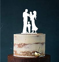 Manschin Laserdesign Cake Topper, taartprikker, taartfiguur acryl, taartstandaard etagère bruiloft bruidstaart (wit) art.n...