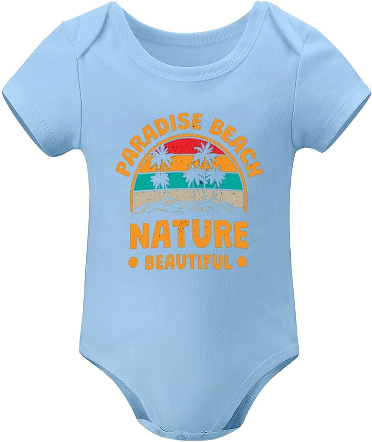 Paradise 2021 autumn and winter new Nature Beautiful Beach Girl Gorgeous Onesies Bodysuits Baby