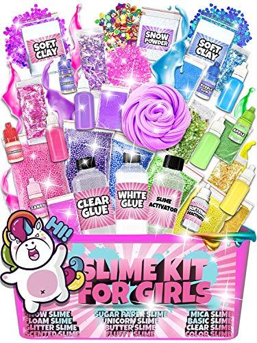 Slime Kit for Girls - All-Inclusive UNICORN Slime Making Kit - PLUS Slime Supplies Kit [57 Pieces Set] - DIY Slime Kit… 3
