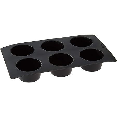 Lékué Moule Muffins 6 Cavités Noir Gourmet