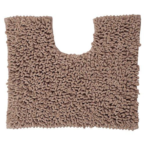 Sealskin Twist, Tapis de Contour WC, Microfibre, 45 x 50 cm, Sable