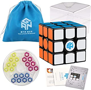 Coogam Gans 356 Air SM Speed Cube 3x3 Black Gan 356Air S Magnetic Puzzle Cube Gan356 with New GES V3 Spring (2019 Upgraded...