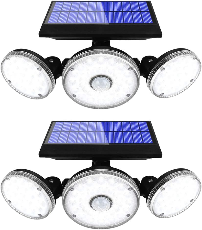 Yomisga 70 LED 2-Pack Remote Dimmable Solar Lights  $25.99 Coupon