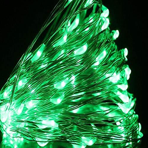 QPOWY 10M USB LED Luces de Cadena Alambre de Plata de Cobre Luz de Guirnalda Luces de Hadas Impermeables para la decoración del Banquete de Boda de Navidad