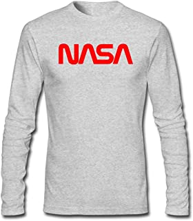 Refined DIY NASA Men's Long-Sleeve Fashion Casual Cotton T-Shirt