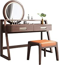 Solid Wood Dressing Table, Makeup Table with Mirror, Modern Simple Smart Small Apartment, Bedroom Furniture, economical Lu...