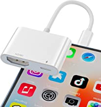 Câble HDMI pour iPhone, Lijun 1080P Lighting Digital AV Adaptateur Vidéo & Audio Sync Screen Convertisseur Compatible avec...