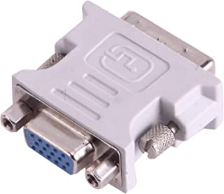 New Networking Accessories DVI-I Male Dual-Link 24 + 5 to 15 Pin VGA Female Video Monitor Adapter Converter(Grey) Used for...