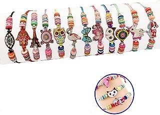 Polade 12Pc Girl Unicorn Owl Bracelet Set Kids Party Favor Adjustable Friendship Bracelet