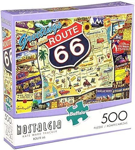 los clientes primero Buffalo Games Nostalgia  Route 66 Jigsaw Puzzle (500-Piece) (500-Piece) (500-Piece) by Buffalo Games  tomamos a los clientes como nuestro dios