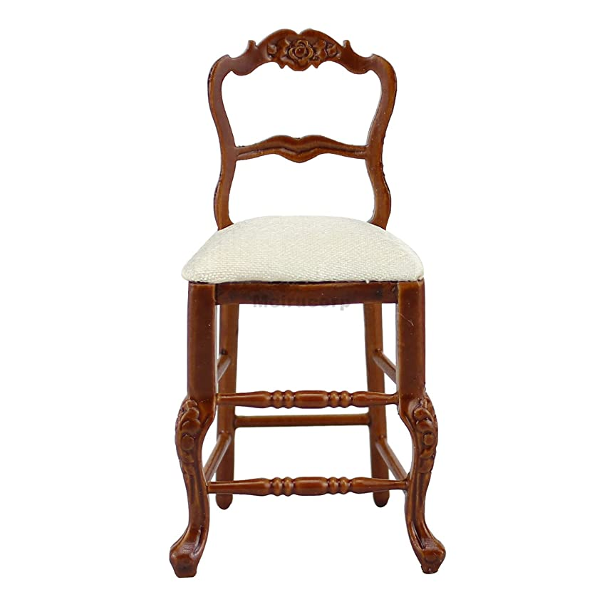 ブランド信条旅行代理店Dollhouse 1/12 Scale Miniature Furniture High quality Wood craft carving High foot chair