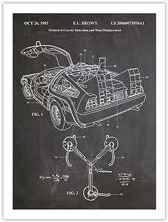 Back to The Future Delorean Time Machine 18X24 Poster