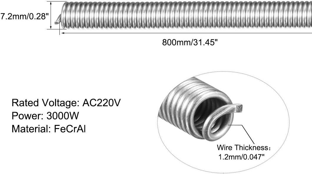 sourcing map 0,1mm 38AWG Cable De Calefacci/ón Superfino Alambre de Resistencia de FeCrAl 66 Pies