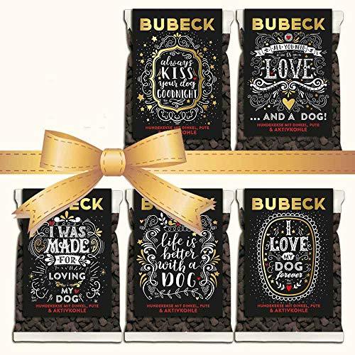 seit 1893 Bubeck Hundeleckerli weizenfrei | mit Pute, Dinkel & Aktivkohle |für futtersensible Hunde