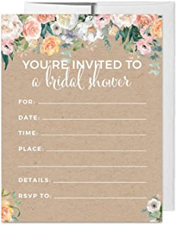 Best peach floral wedding invitations Reviews