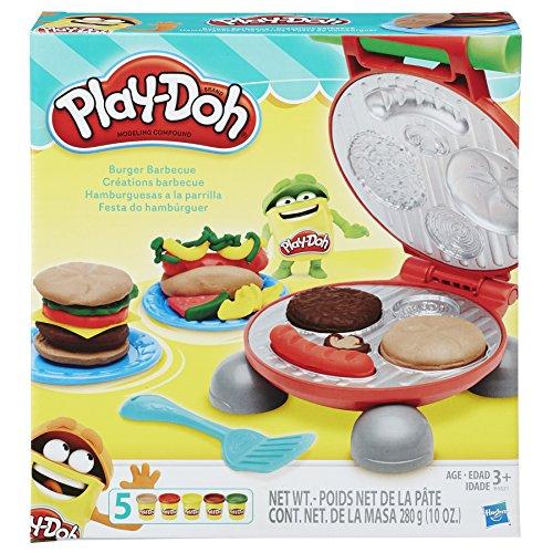 Conjunto De Massinha Play-doh Festa Do Hamburguer 5 Potes Play-doh Multicor