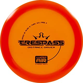 Dynamic Discs Lucid Air Trespass Disc Golf Driver   Frisbee Golf Disc   Maximum Distance Driver   Stamp Colors Will Vary