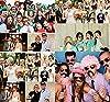 Foonii 76 pcs photo booth props Accessori fai da te colorati occhiali baffi labbra farfallino cappelli su bastoni per matrimonio partito Natale compleanno #5