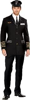 Men's Mile High Pilot Hugh Jorgan Adult Costume Large Black