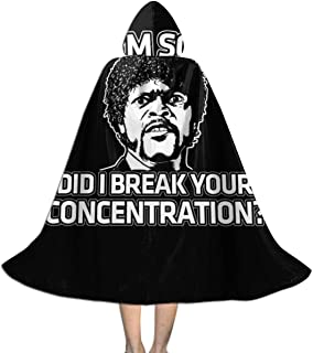 NSHANGMA Pulp Fiction Inspired Jules Quote Unisex Hooded Cloak Cape Halloween Party Decoration Role Cosplay Costumes Black