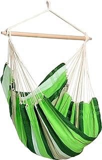 AMAZONAS Stor hängfåtölj handgjord i Brasilien Brasil med tvärstav av FSC bokträ 110 cm till 150 kg oliv