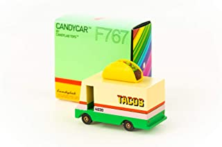 Candylab Toys Wooden Cars, Taco Candyvan , Modern Vintage Style Collectible, Kids Toy Cars, Solid Beech Wood