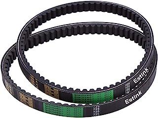 Clutch Belt, 2Pcs Drive Belt Clutch Belt Replacement for Hammerhead 80T and TrailMaster Mid XRX Go-Karts 9.100.018-725 Black