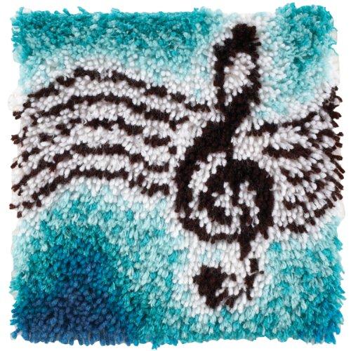 Spinrite Wonderart Knüpfset mit Fisch-Motiv, Treble Clef, 30,5 x 30,5 cm