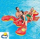 SXC Langosta Hinchable acuática 4 Asas, con asa de Agua Cama Flotante, Piscina de Verano al Aire Libre, Juguetes para niños y Adultos