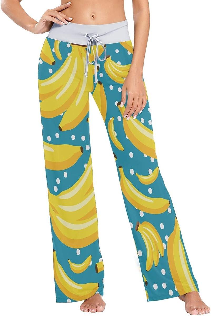 UNSUWU Women's Pajama Lounge Pants Comfy Casual Stretch Palazzo Drawstring Pj Bottoms Pants Wide Leg