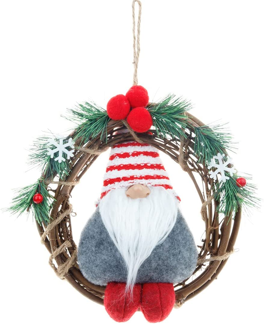 Gnome Rattan Wreath OFFicial Decoration for Christmas Max 77% OFF Tree Door Front 8