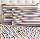 Shavel Micro Flannel Sheet Set, California King, Awning Stripe