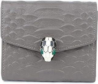 Crocodile Genuine Leather Wallet Elegant Billfold Purse (Color : Gray)